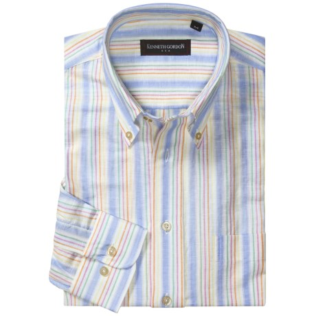 Kenneth Gordon Cotton Sport Shirt - Long Sleeve (For Men)