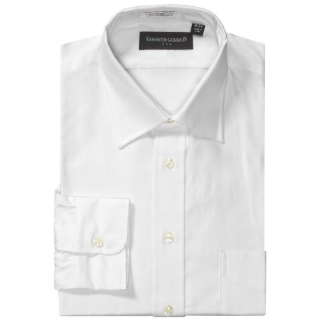 Kenneth Gordon Cotton Dress Shirt - Point Collar, Long Sleeve (For Men)