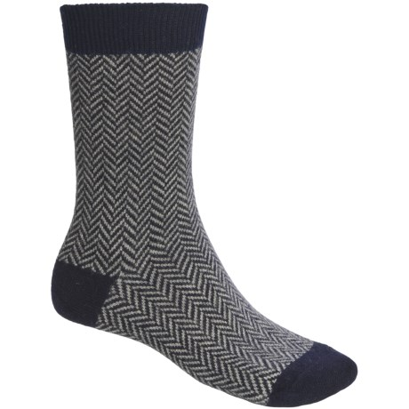 b.ella Avanti Herringbone Socks - Cashmere Blend (For Men)