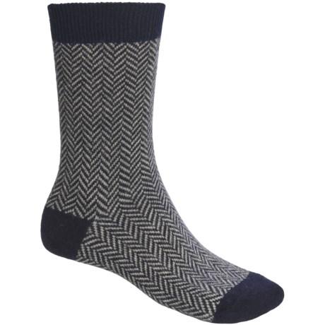 b.ella Avanti Herringbone Socks - Cashmere Blend (For Men)