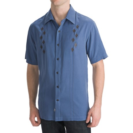 Nat Nast Serpentine Camp Shirt - Silk Twill, Short Sleeve (For Men)