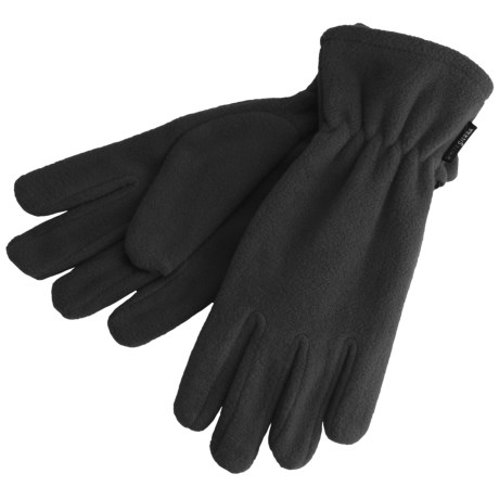 White Sierra Fleece Gloves - Midweight (For Men and Women)