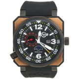 GV2 by Gevril XO Submarine PVD Watch - Rose Gold, Rubber Strap