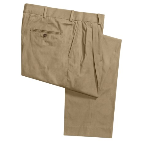 Cotton Poplin Pants - Pleats (For Men)