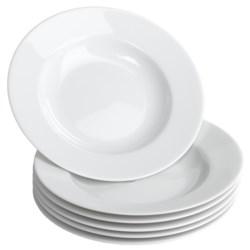 "BIA Cordon Bleu Limoges Rim 8.5"" Soup Plates - Porcelain, Set of 6"