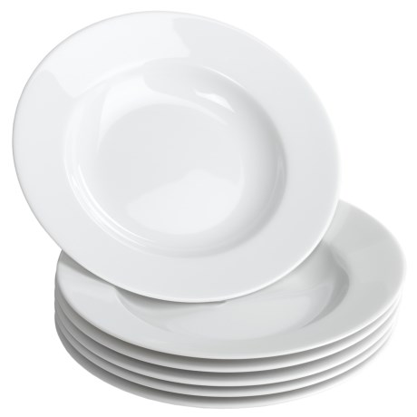 "BIA Cordon Bleu Limoges Rim 8.5"" Soup Plates - Porcelain, Set of 6"
