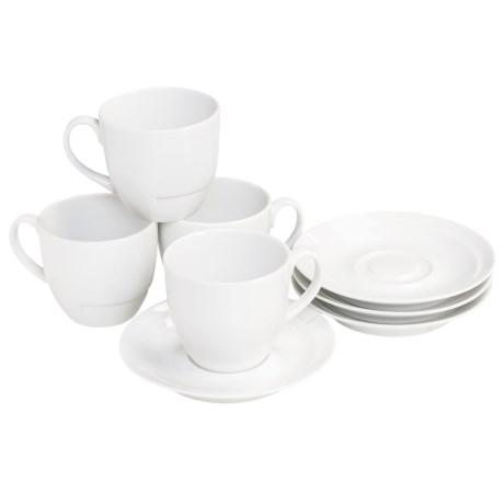 BIA Cordon Bleu Sweep Coupe Demi Cups and Saucers - Set of 4
