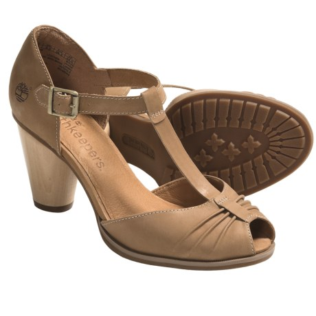 Timberland Earthkeepers Nevali Peep-Toe Sandals - T-Strap (For Women)