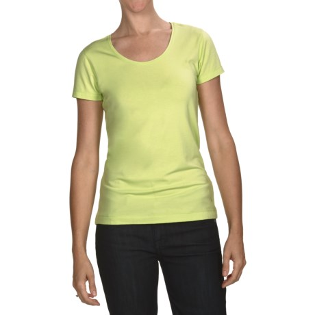 White Sierra Taroko T-Shirt - Stretch Jersey Knit, Short Sleeve (For Women)
