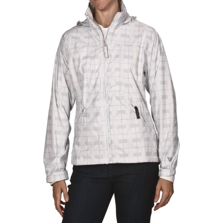 White Sierra Plaid Paradise Cove Wind Jacket (For Women)