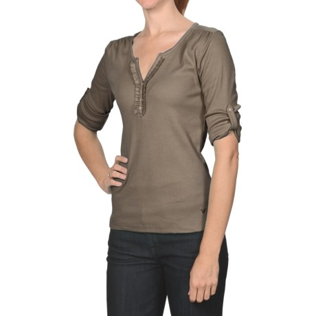 White Sierra Leona Heights Shirt - 3/4 Roll-Up Sleeve (For Women)