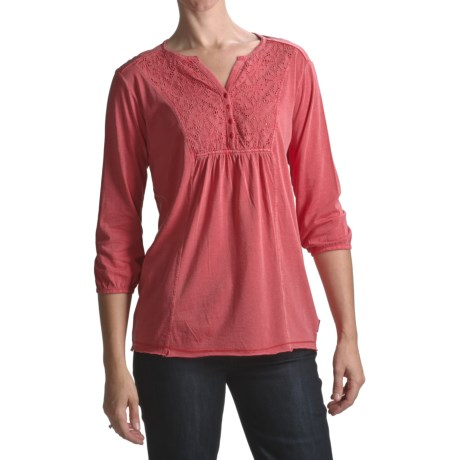 White Sierra Sugarloaf Tunic Shirt - Cotton-Modal Jersey, 3/4 Sleeve (For Women)