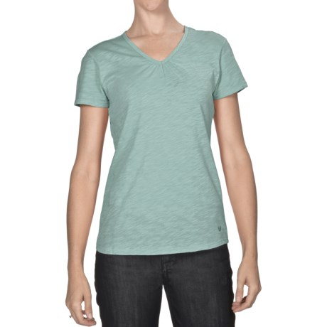 White Sierra Lisbon T-Shirt - Slub Cotton, Short Sleeve (For Women)