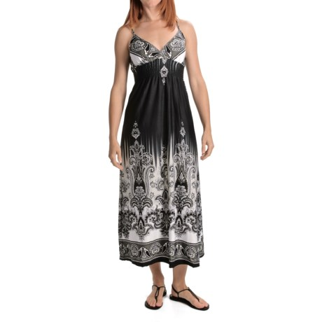 She's Cool Maxi Spaghetti Strap ITY Knit Dress (For Women)