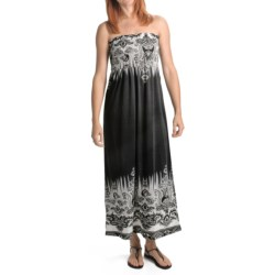 She's Cool Maxi ITY Knit Dress - Strapless (For Women)