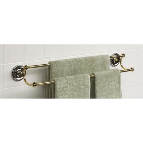 "Valsan Futura Series 24"" Double Towel Bar"