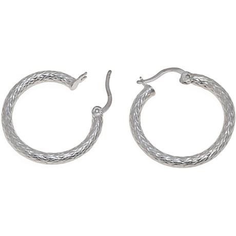 Stanley Creations Sterling Silver Hoop Earrings - Diamond-Cut Tubes