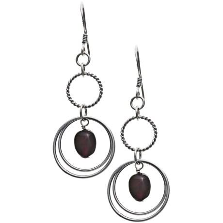Stanley Creations Sterling Silver Garnet Earrings