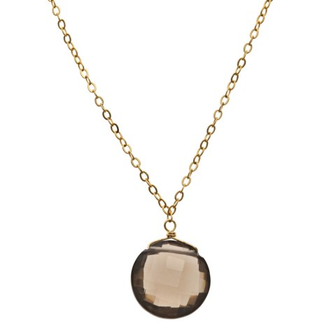 Stanley Creations 18K Gold-Plated Smoky Quartz Necklace