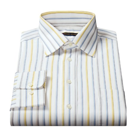 Henry Jacobson Striped Dress Shirt - Long Sleeve (For Men)