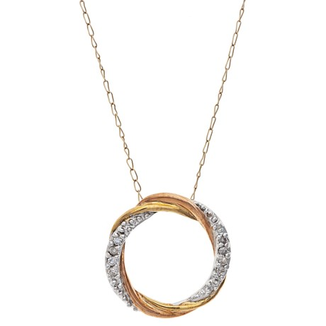 Stanley Creations 10K Gold Rolling Circle Pendant Necklace