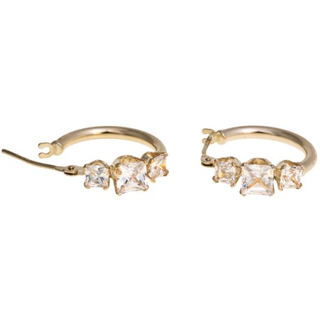 Stanley Creations 10K Gold and Cubic Zirconia Earrings