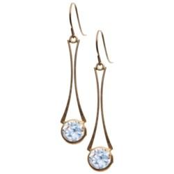 Stanley Creations 10K Gold Wishbone Earrings - Cubic Zirconia