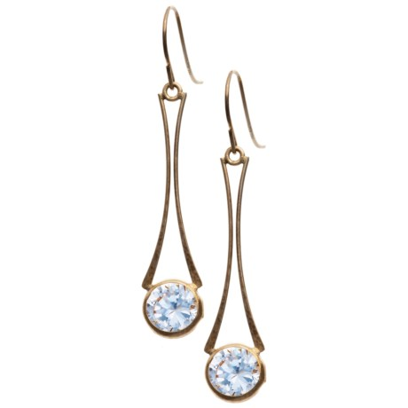 Stanley Creations 10K Gold Wishbone Earrings - Cubic Zirconia