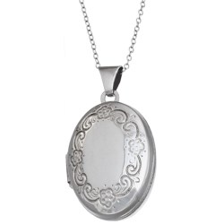 Stanley Creations Oval Locket Necklace - Sterling Silver