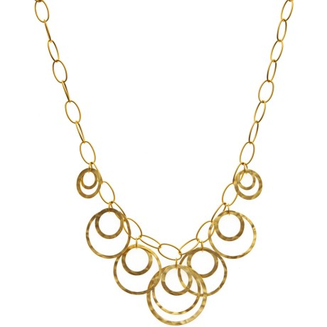 Stanley Creations Matte Hammer Necklace - Gold Plated