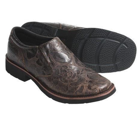 Roper Riderlite 2 Shoes - Leather, Slip-Ons (For Women)