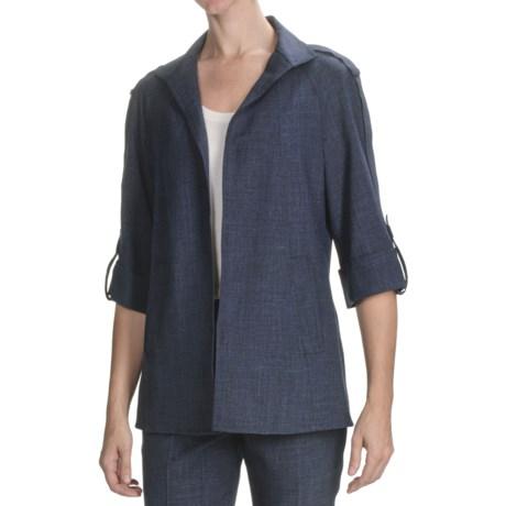 Peace of Cloth Panticular Deidre Versaille Tweed Jacket - Tab Sleeve (For Women)