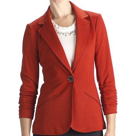 Anthracite R Ponte Knit Blazer - 3/4 Sleeve (For Women)