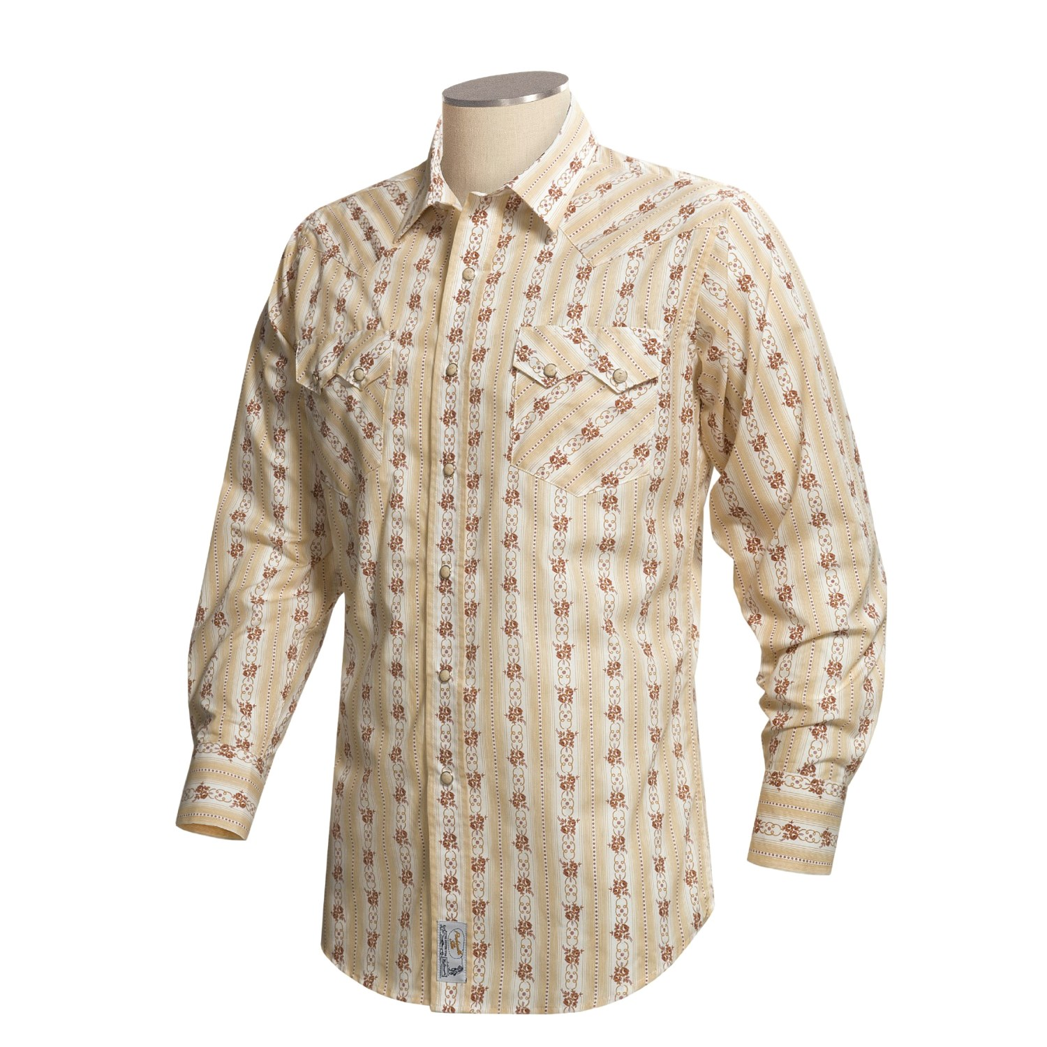 Panhandle Slim Western Shirt With Floral Print For Men