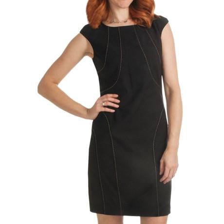 Ellen Tracy Pick-Stitch Detail Dress - Short Sleeve (For Women)