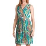Ellen Tracy Pleated Chiffon Dress - Sleeveless (For Women)