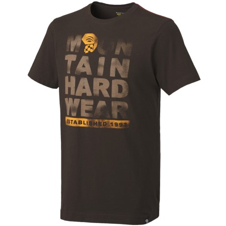Mountain Hardwear Established Logo T-Shirt - Short Sleeve (For Men)