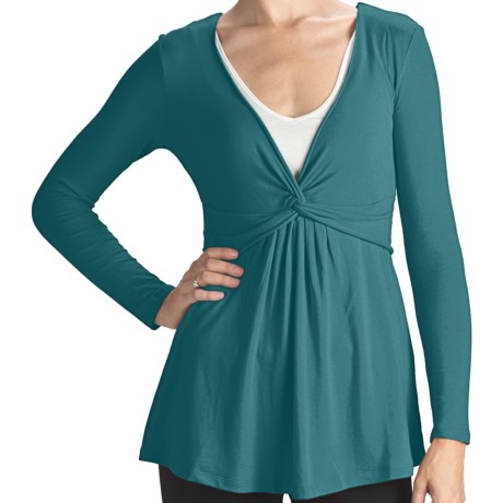 Blue Canoe Stretch Rayon-Organic Cotton Shirt - Long Sleeve (For Women)