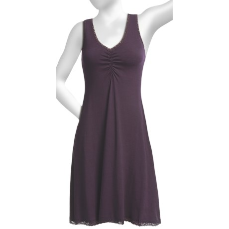 Blue Canoe Swing Night Gown - Lace Trim, Sleeveless (For Women)