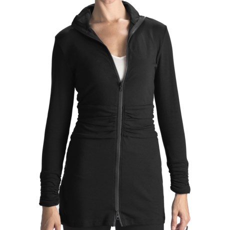 Blue Canoe Metro Long Jacket - Organic Cotton, Gathered Waist (For Women)