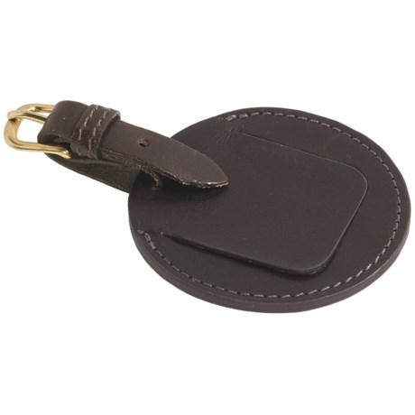 """Mulholland 4"""" Leather Bag Tag"""