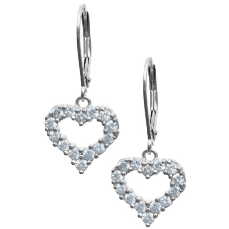 Prime Art Cubic Zirconia Heart Earrings
