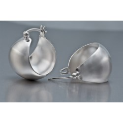 Prime Art Sterling Silver Hoop Earrings