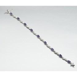 Prime Art Sterling Silver Rope Bracelet - Semi-Precious Stones