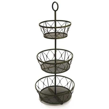 Two's Company 3-Tier Decorative Planter Basket - Metal