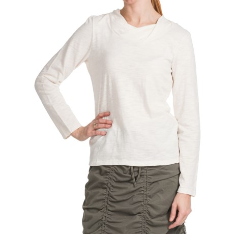 Neon Buddha Twist Neck Shirt - Cotton Slub, Long Sleeve (For Women)
