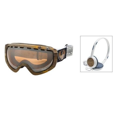 Dragon Alliance l Rogue Danny Davis Frends Snowsport Goggles - Headphones, Ionized Lens