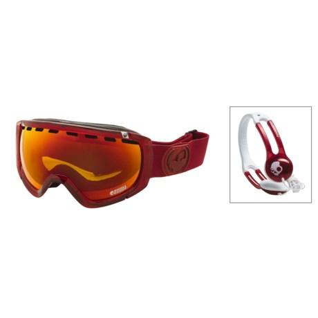 Dragon Alliance Dragon Optical Rogue Skullcandy Snowsport Goggles - Headphones, Ionized Lens
