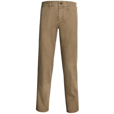 Worn Garment-Dyed Relaxed Fit Pants (For Men)