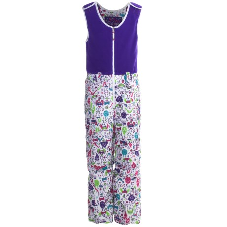 Snow Dragons Bailey Snow Bib Overalls - Insulated (For Little Girls)